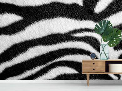 Zebra skin pattern leatherette fabric