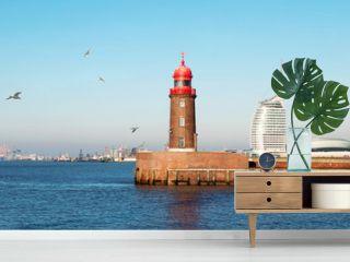 Blick auf die historische Mole in Bremerhaven
