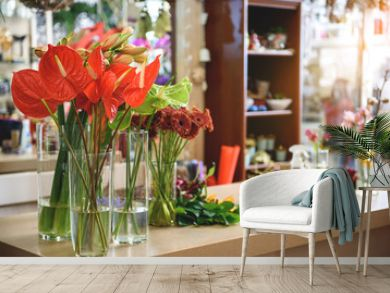 Wide selection of bouquets in store