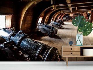 Wooden pirate ship in Genova port