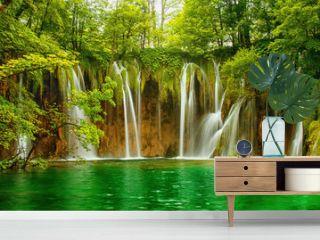 Plitvice lakes park in Croatia.