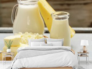 Dairy products - cheese, butter, milk