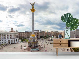 Independence Square - Maidan Nezalezhnosti in Kiev, Ukraine.