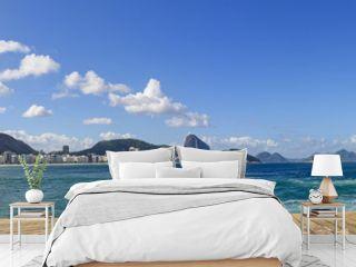 Panoramic image of Copacabana beach in Rio de Janeiro