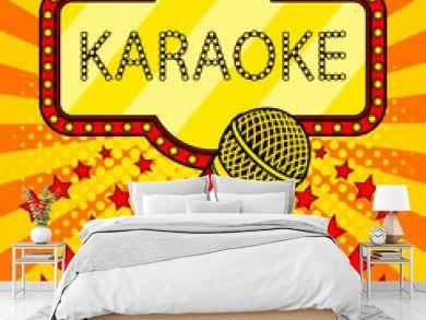 Microphone pop art style vector illustration