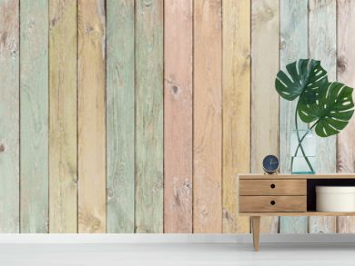 wood background or texture with planks pastel colored