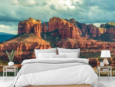Mountain panorama in Sedona, Arizona