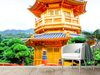 Nan Lian Garden in Diamond Hill, Hong Kong. The free-entry public park has an area of 3.5 hectares and was designed after the Tang Dynasty style of architecture.