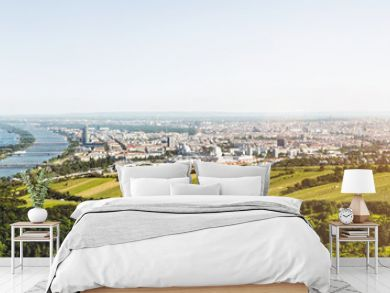 Panoramic view of Vienna, Austria from Kahlenberg