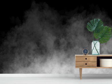 Fog or Smoke on black Background