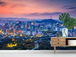 Seoul. Cityscape image of Seoul downtown during summer sunrise.