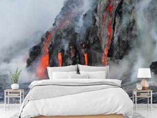 Lava flows from the Kilauea volcano