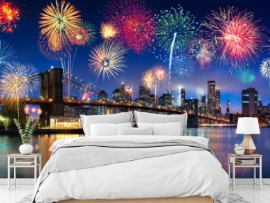 Feuerwerk über New York City, USA
