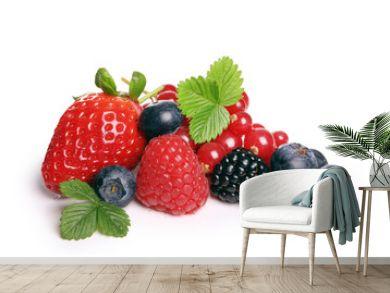 fruit rouge sur fond blanc