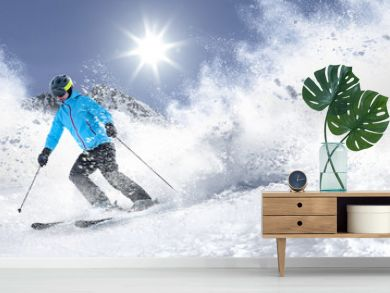 winter skie and snow