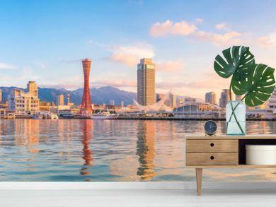 Skyline and Port of Kobe in Japan