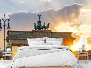 Brandenburger Tor Sonnenuntergang Panorama, Berlin