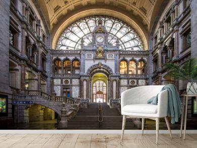 Railway station in Antwerpen Belgium.