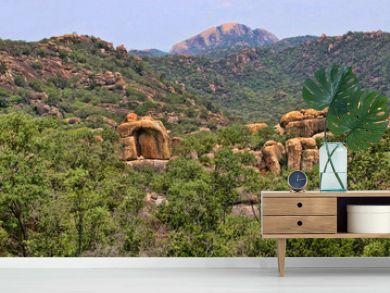 Beautiful rocky formations of Matopos National Park, Zimbabwe