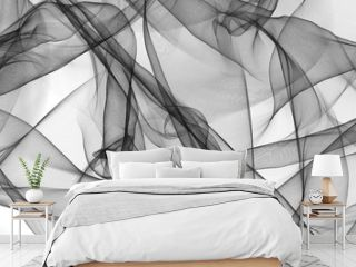 Abstract smooth gray wave. gray transparent waved lines