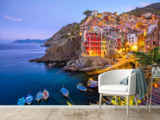 Riomaggiore, the first city of the Cique Terre in Liguria, Italy