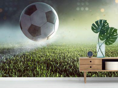 Fußball springt auf Linie