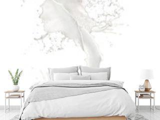 Abstract splash of milk on white background