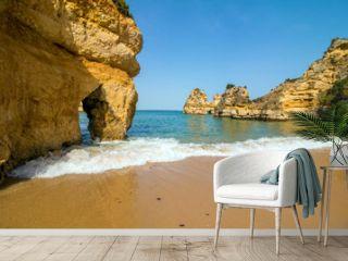Wonderful view of portugal beach in Lagos Algarve Portugal