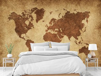 World Map Paper Vintage