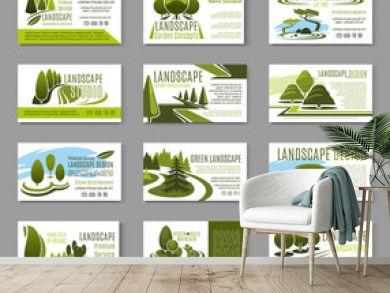 Landscape design studio business card template