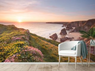 Bedruthan Steps Cornwall uk