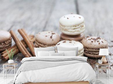 macarons cannelle et chocolat