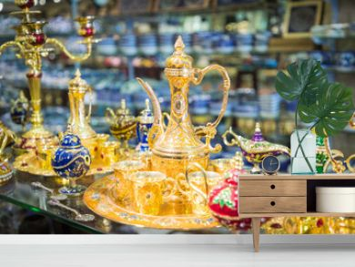 Traditional local souvenirs in Jordan, Middle East.