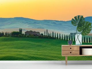 The most beautiful view in Tuscany Italy.