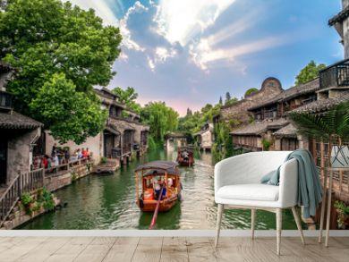 landscape of wuzhen,  a historic scenic town