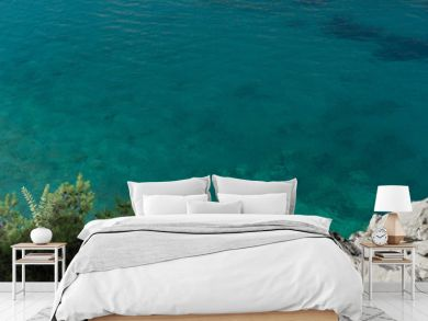 Top view on the rocks on beautiful Azure sea, Montenegro