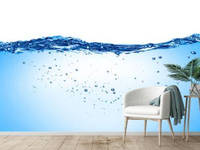 blue water wave liquid splash bubble drink