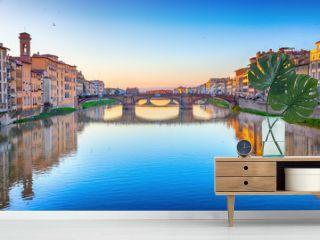 St. Trinity Bridge in Florence, Italy
