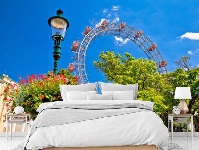Prater Riesenrad gianf Ferris wheel in Vienna view