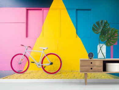 Bicycle with Pastel Background