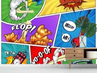 Pop art colorful concept
