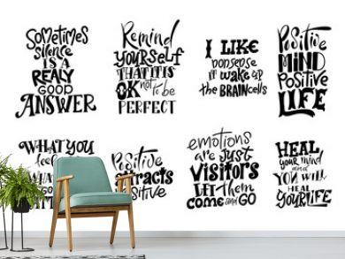 Vector lettering. Meditatin motivation quotes. Hand drawn calligraphic design