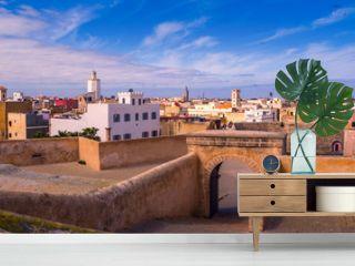 Panorama Portuguese fortress of El Jadida city in Casablanca-Settat, Morocco.