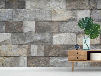 Close-up modern grey stone tile texture brick wall