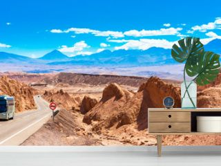 Landscape in Atacama desert, Chile. Copy space for text.