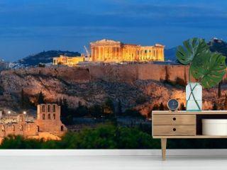 Athens skyline night