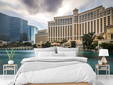 hotels and city skyline in las vegas nevada