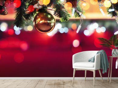 Night Scenery Christmas Fair with Street Festive Light, Market Square