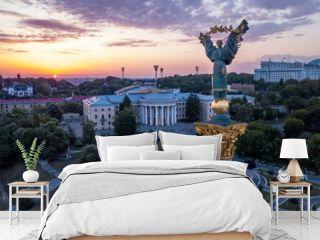 Kiev, Ukraine - May, 2018: Monument of Independence of Ukraine in Kiev. Historical sights of Ukraine.
