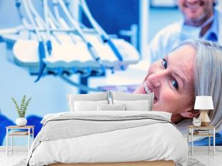 Portrait of female patient smiling